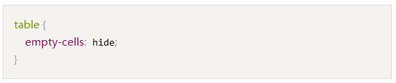 你未必知道的CSS小知识:你知道table里的empty-cells属性吗?